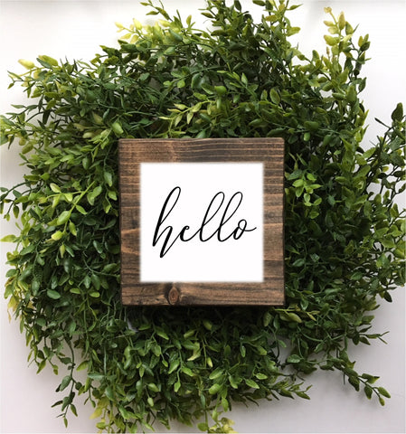 Mini hello sign