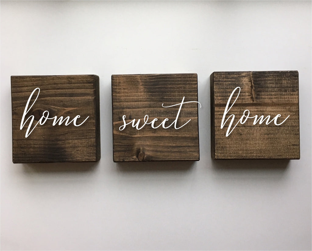 Home Sweet Home - set of three