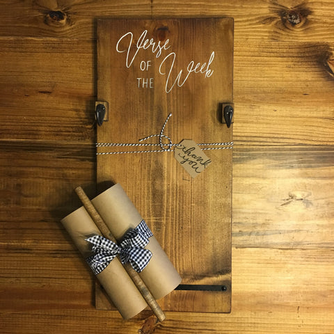 Custom wooden paper holder