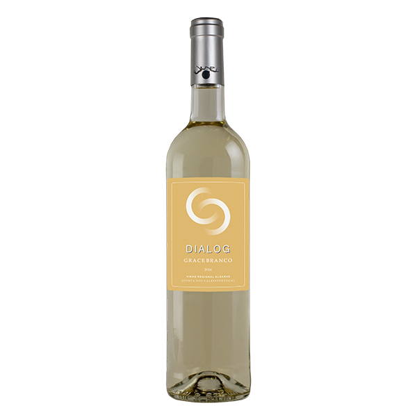 Dialog Grace Branco (Dry) 2016 This label represents how through unity it's possible to do more and better. While boasting aromas of tropical fruit, this refreshing wine reveals flavours of pear on the palate and a lingering finish.