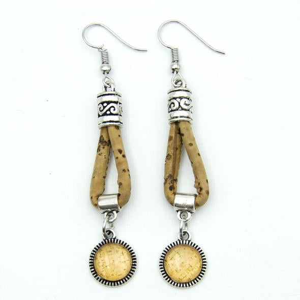 Long Cork Earrings-Spirylife
