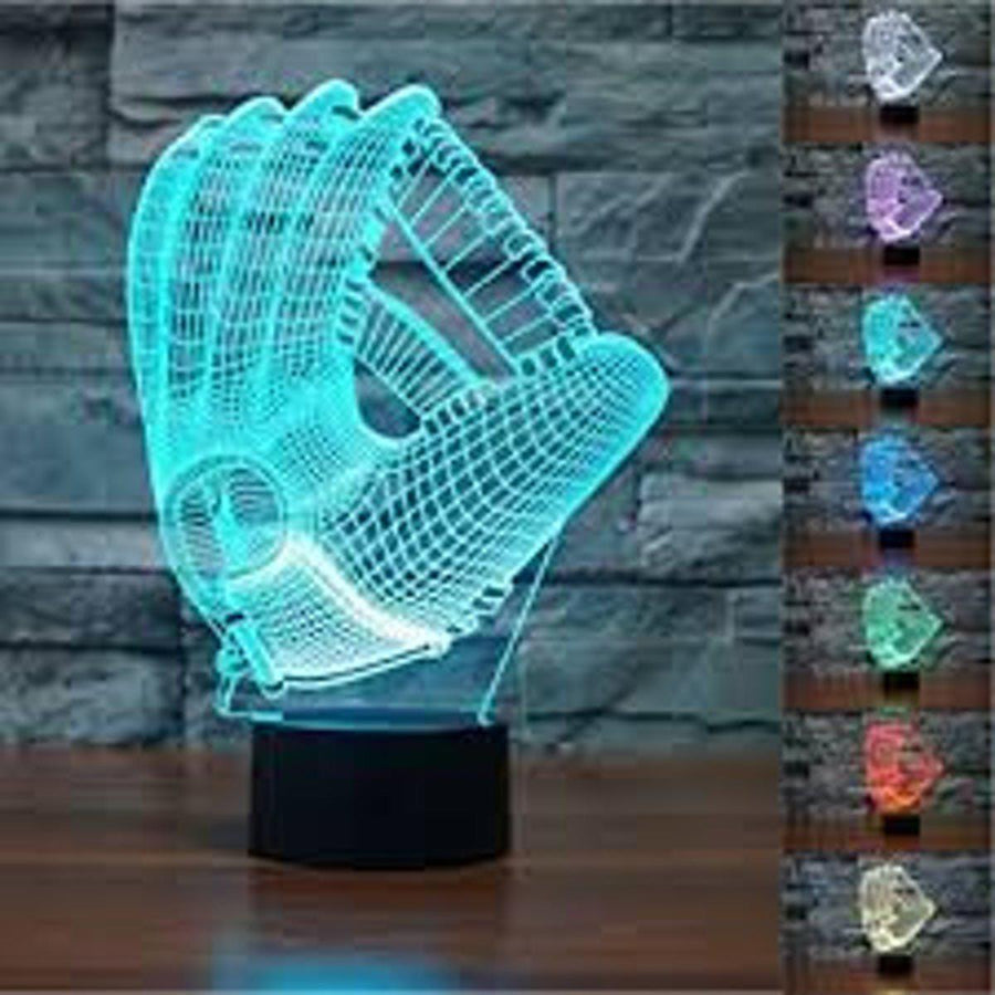 3D Baseball Glove LED Lamp lamps Lamp 3d-baseball-glove-led-lamp Default Title