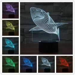 3D Fish LED Lamp lamps Lamp 3d-fish-led-lamp 1