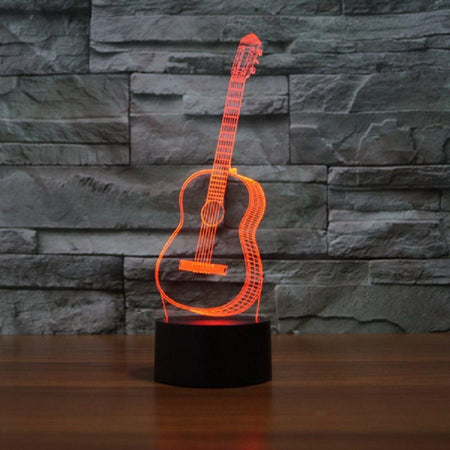 3D Guitar LED Lamp lamps Lamp creative-3d-visual-ukulele-guitar-model-illusion-lamp-led-7-color-changing-novelty-bedroom-night-light-music-home-decor-iy803358 Default Title
