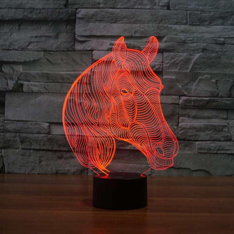 3D Horse LED Lamp lamps Lamp 3d-horse-led-lamp Default Title