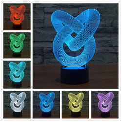 3D Infinity LED Lamp lamps Lamp diy-pipe-3d-lamp-fashion-table-lamp-luminaria-for-bedroom-art-decor-night-light-micro-usb-usb-led-3d-led-lamp 1