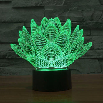 3D Lotus LED Lamp lamps Lamp 3d-lotus-led-lamp Default Title