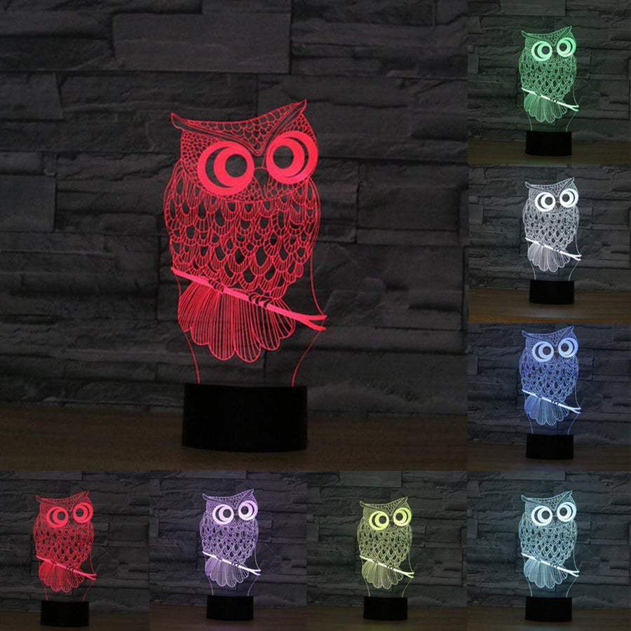 3D Owl Led Lamp lamps Lamp 3d-owl-led-lamp Default Title