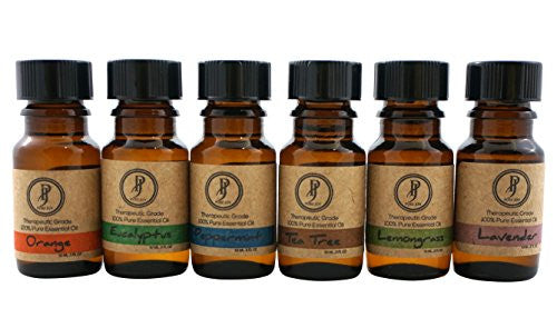 Pure Joy Aromatherapy Premium Kit Top 6 Essential Oils Gift Set 10ml 100% Pure & Therapeutic grade