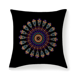 Mandala Throw Pillow Cushion Cover Boho Chic Unique Design Pillow Case