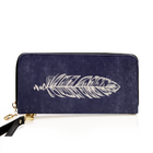 Feather PU Leather Wallet
