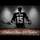 Hockey Player Wall Sticker