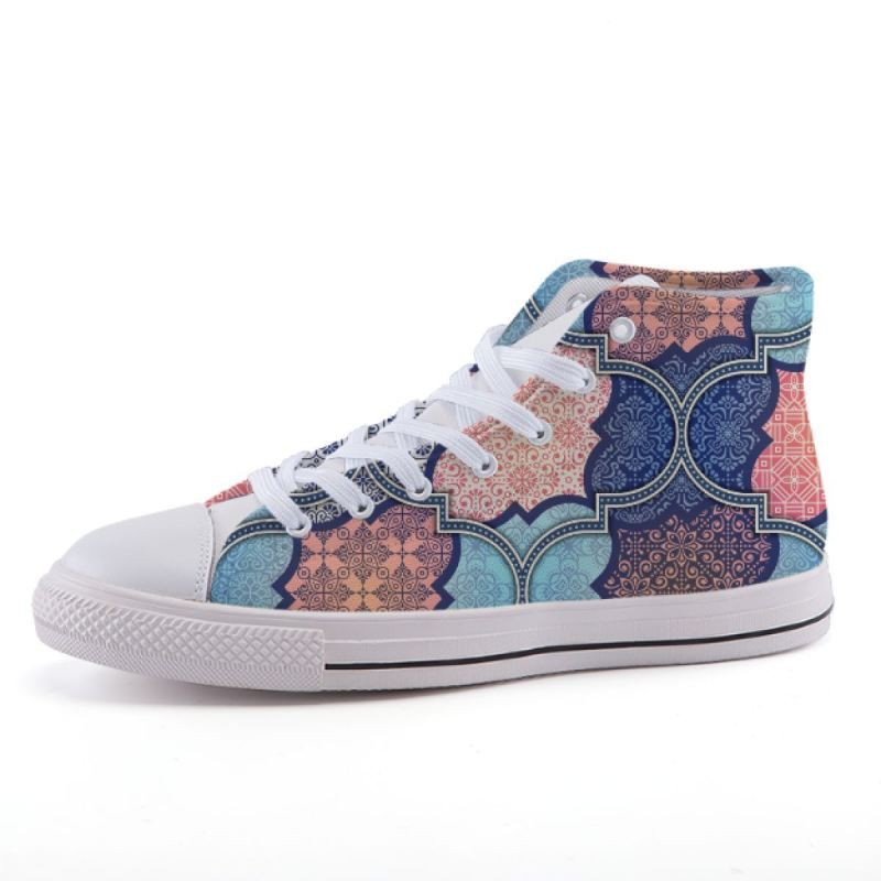 Abstract Ethnic Sneakers Shoes