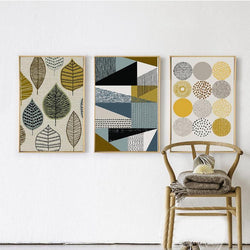 Abstract Geometric Canvas Art Prints nordic Wall Art