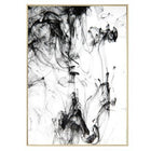 Abstract Ink Canvas Art Prints 13X18Cm No Frame / Pattern 2 Wall