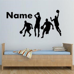 Basketball Player Wall Sticker Wall Sticker personalised-basketball-players-wall-sticker-boys-bedroom-wall-decals-customize-wall-stickers-for-kids-room-vinyl-mural-d617 Black