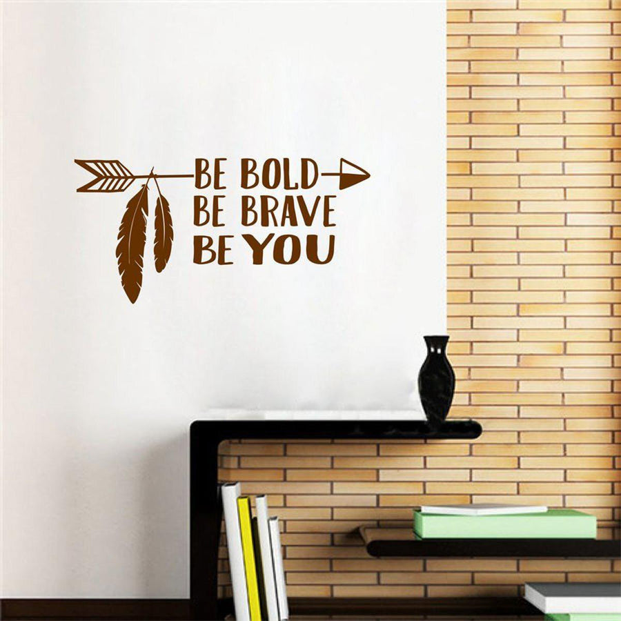 Be Brave Arrow Wall Sticker Quotes Wall Sticker be-brave-arrow-wall-sticker-1 Brown / 56cm x 28cm