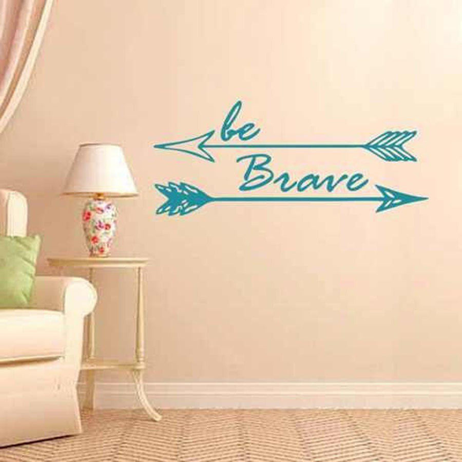 Be Brave Wall Sticker Quotes Wall Sticker be-brave-arrow-wall-sticker black / small 22X57cm