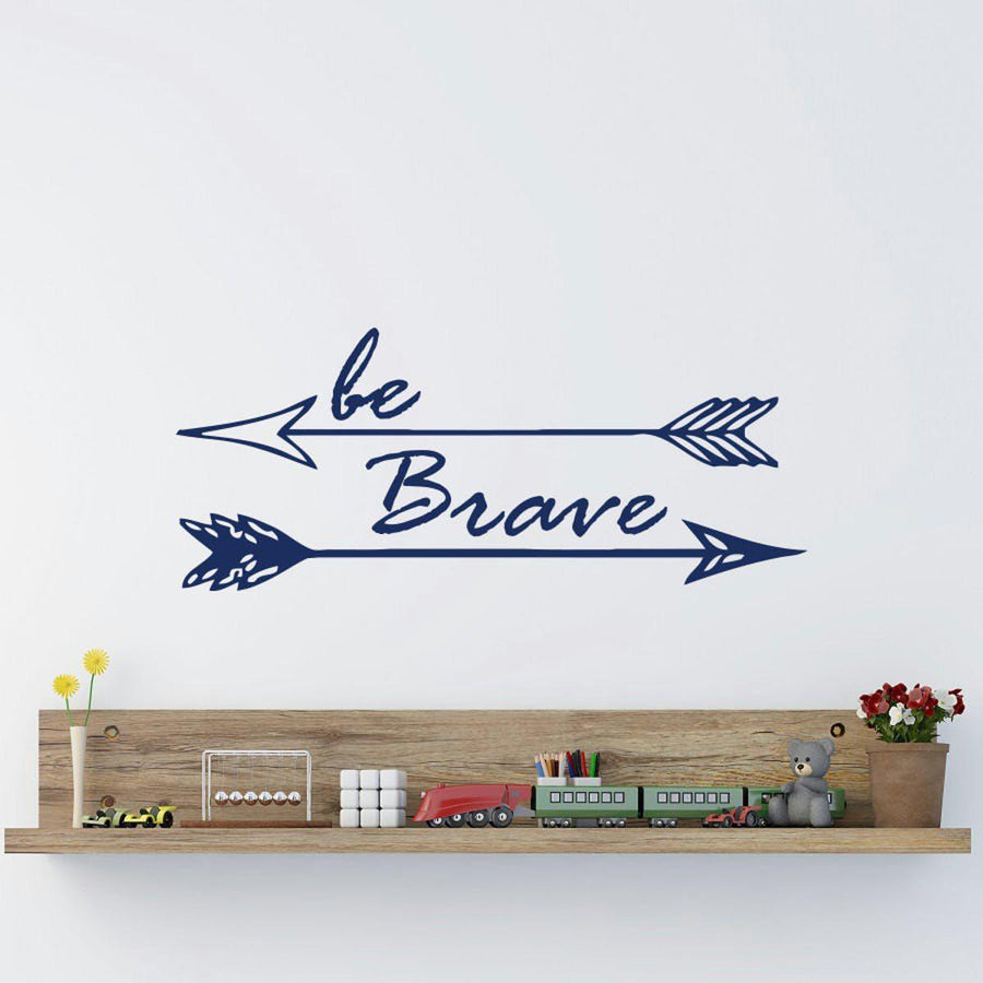 Be Brave Wall Sticker Quotes Wall Sticker be-brave-arrow-wall-sticker navy / small 22X57cm