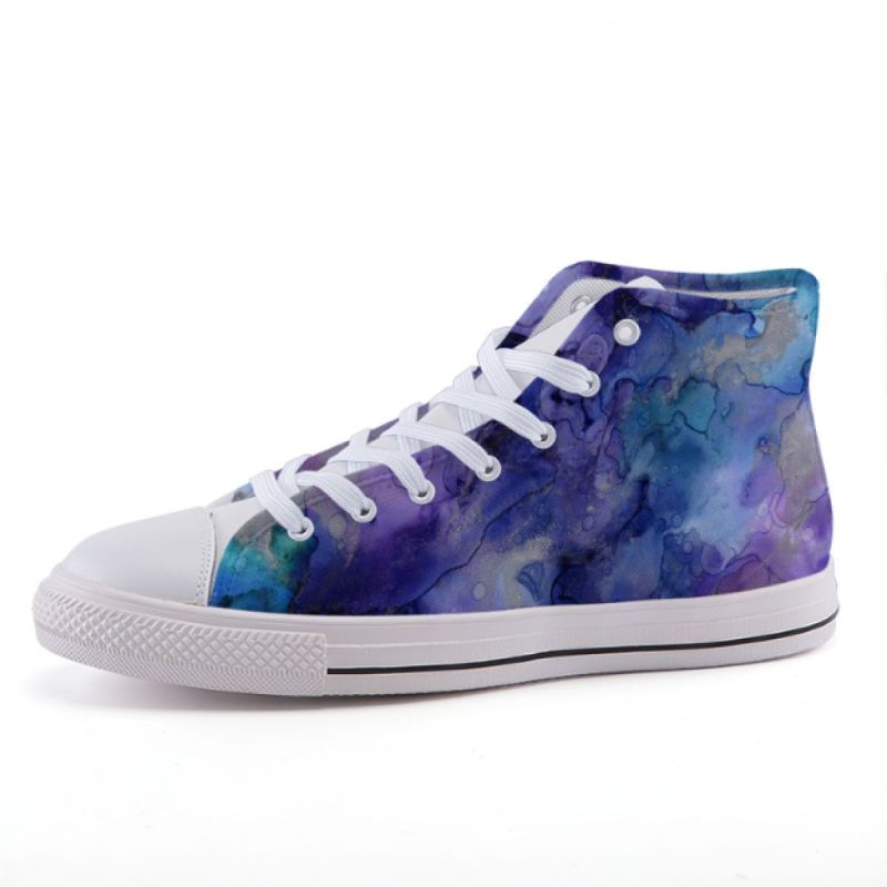 Blue Watercolor Sneakers Shoes