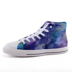 Blue Watercolor Sneakers 35 Shoes