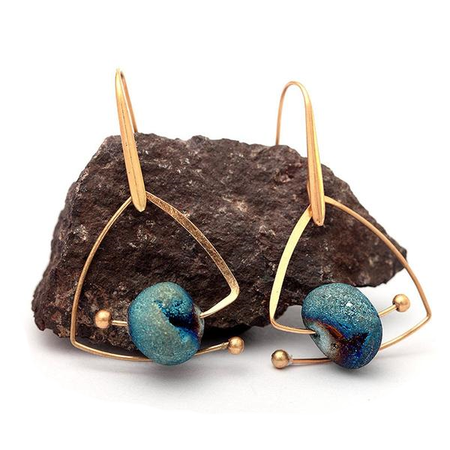 Blue Stone Earrings-Spirylife
