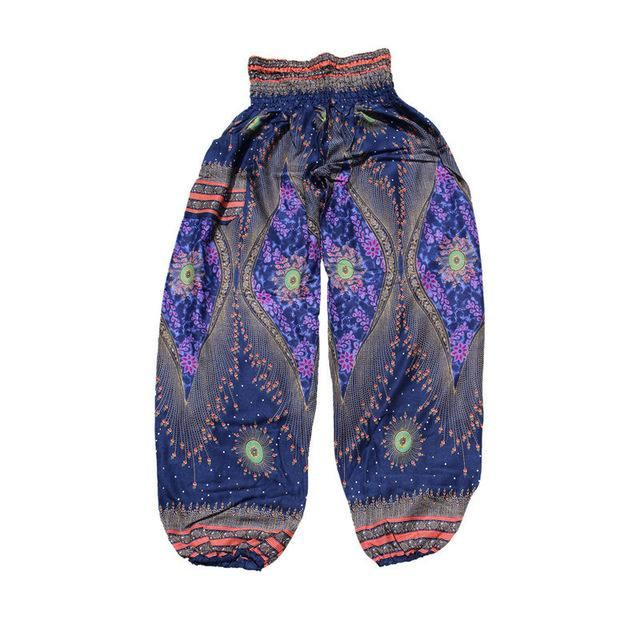 Bohemian Yoga Pants Blue