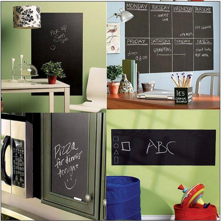 Chalk Board Blackboard Stickers Removable Vinyl Draw Decor Mural Decals Art Chalkboard Wall Sticker For Kids Rooms EJ871243 Other Wall Sticker chalk-board-blackboard-stickers-removable-vinyl-draw-decor-mural-decals-art-chalkboard-wall-sticker-for-kids-rooms-ej871243 Default Title