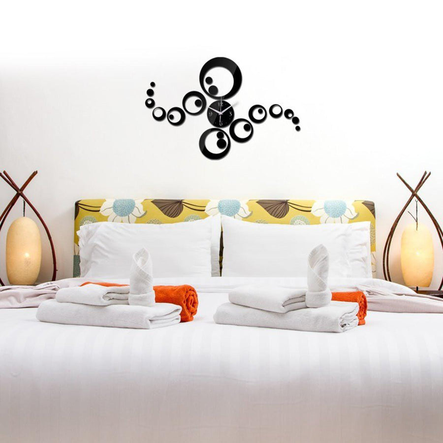 Wall stickers vinyl decal home clock decor mural art feathers clock wall stickers gold quick shop amipublicfo Gallery
