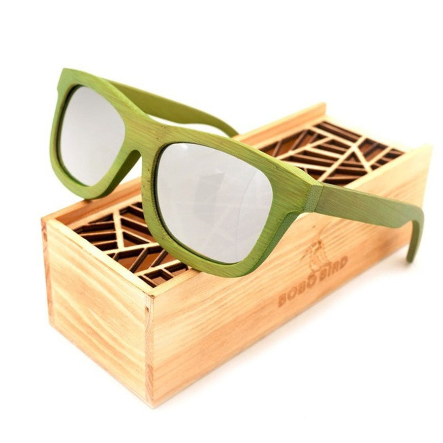 Color Lens Natural Green Bamboo Sunglasses Polarized Sunglasses for Women Fashion Eyewear Men, Women sunglasses