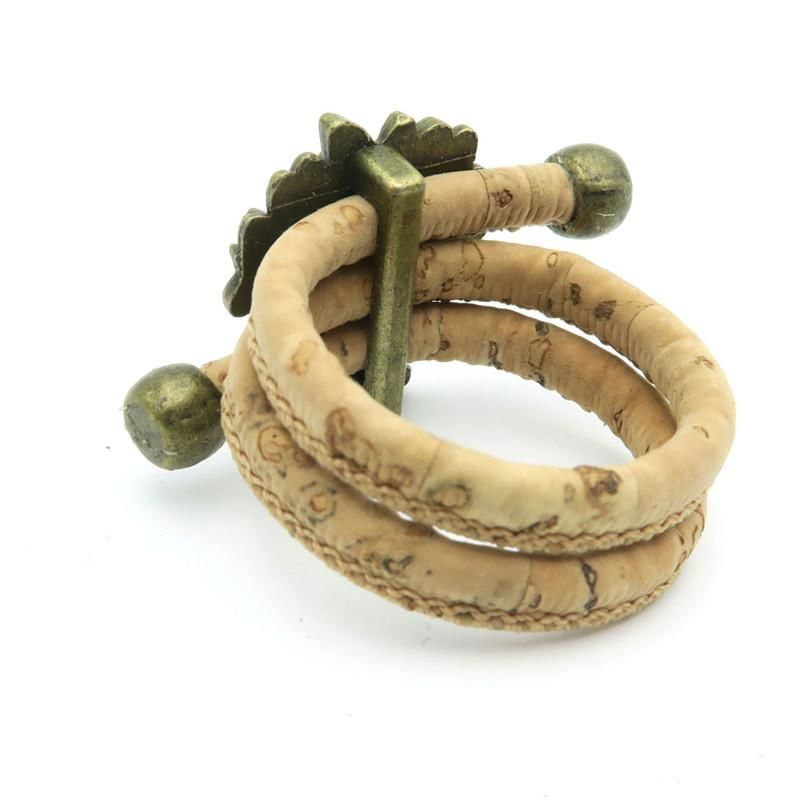 Cork Tree Of Life Adjustable Handmade Organic Vegan Ring Jewelry Women