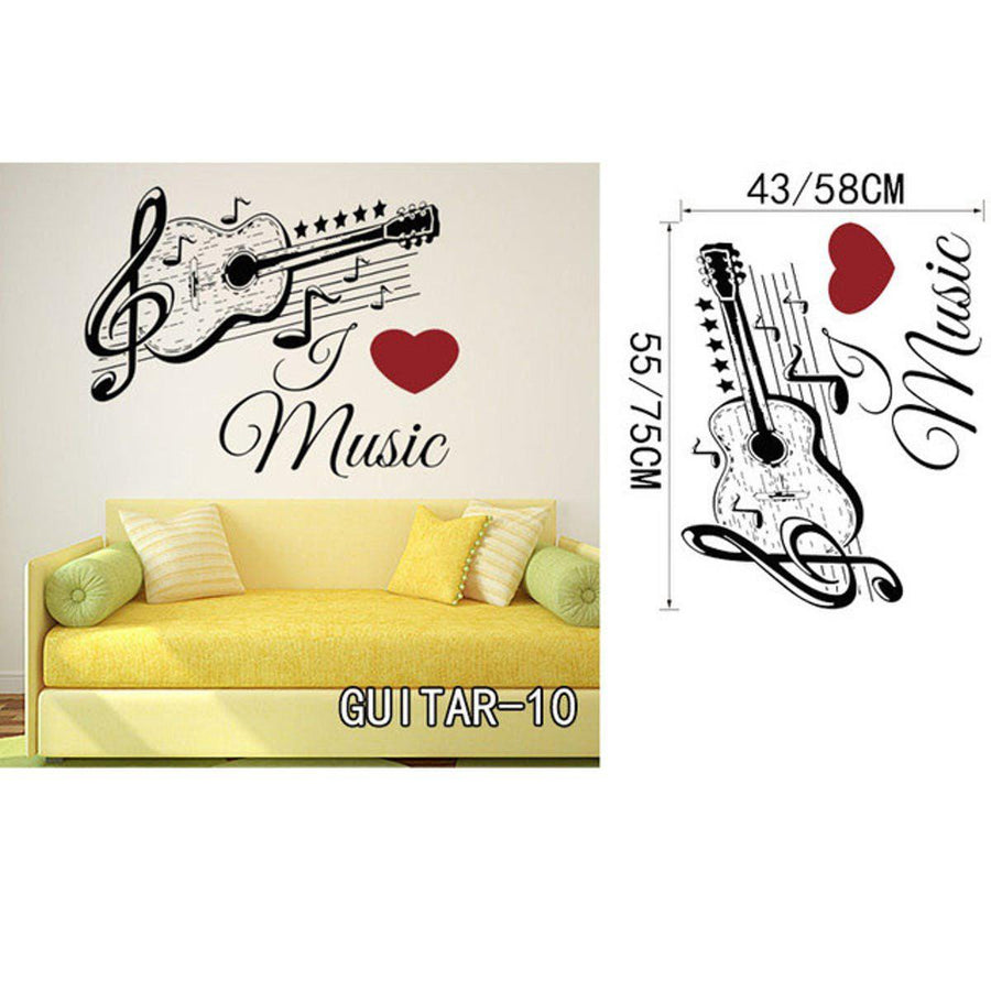 Creative Art Guitar Wall Stickers Music Wall Sticker creative-art-guitar-wall-stickers-home-decor-diy-home-decorations-music-wall-decals-living-room GUITAR10 / Small
