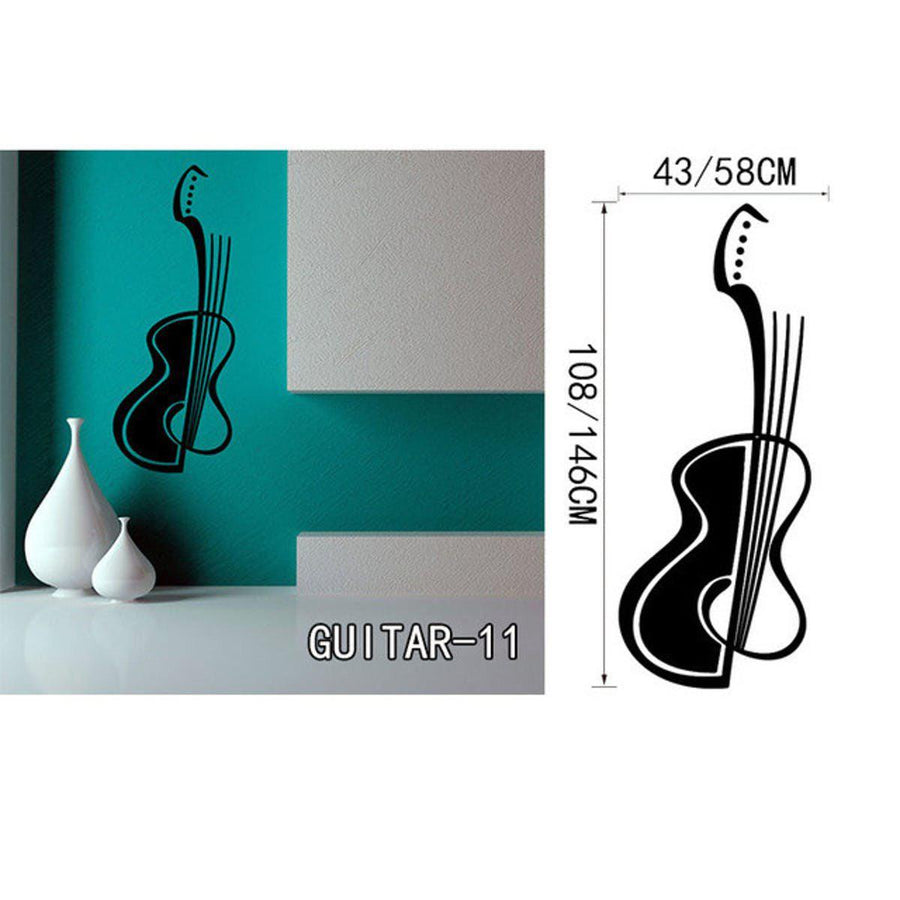 Creative Art Guitar Wall Stickers Music Wall Sticker creative-art-guitar-wall-stickers-home-decor-diy-home-decorations-music-wall-decals-living-room GUITAR11 / Small