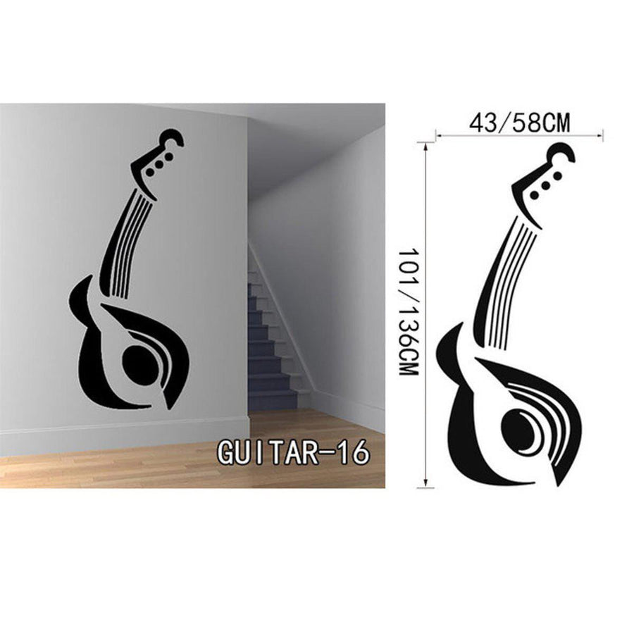 Creative Art Guitar Wall Stickers Music Wall Sticker creative-art-guitar-wall-stickers-home-decor-diy-home-decorations-music-wall-decals-living-room GUITAR16 / Small