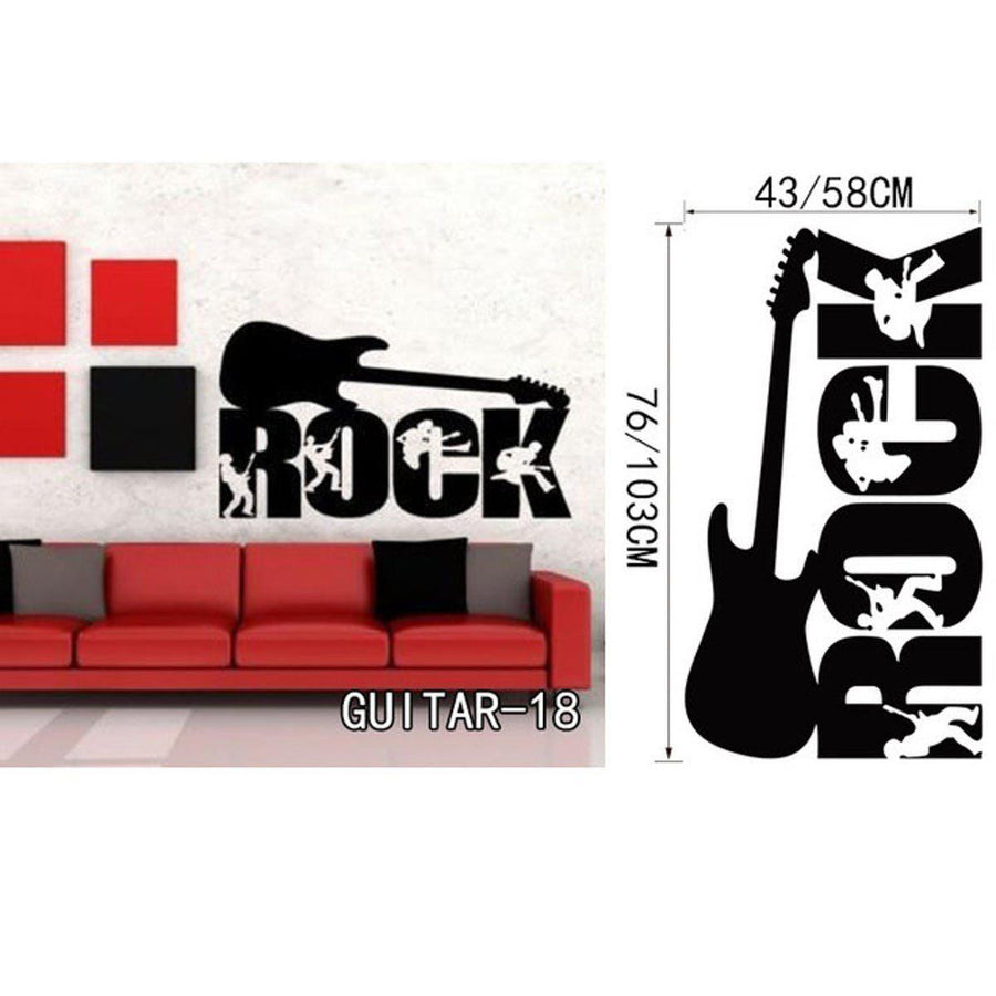 Creative Art Guitar Wall Stickers Music Wall Sticker creative-art-guitar-wall-stickers-home-decor-diy-home-decorations-music-wall-decals-living-room GUITAR18 / Small
