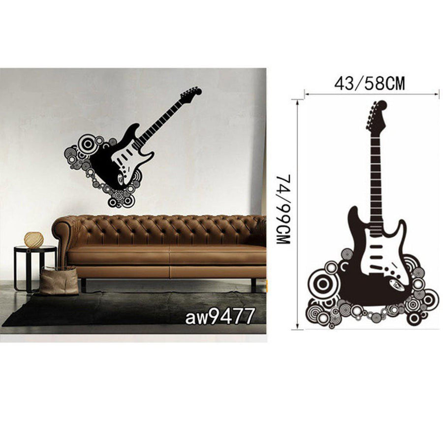 Creative Art Guitar Wall Stickers Music Wall Sticker creative-art-guitar-wall-stickers-home-decor-diy-home-decorations-music-wall-decals-living-room GUITAR20 / Small