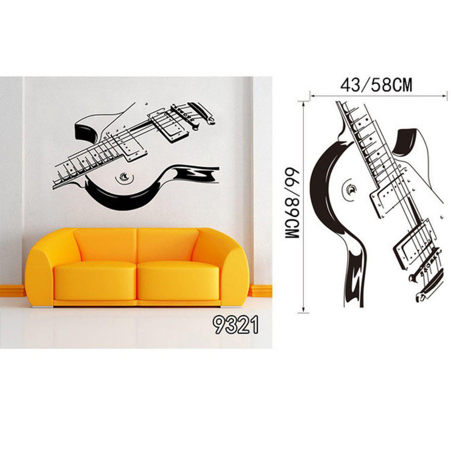 Creative Art Guitar Wall Stickers Music Wall Sticker creative-art-guitar-wall-stickers-home-decor-diy-home-decorations-music-wall-decals-living-room GUITAR21 / Small