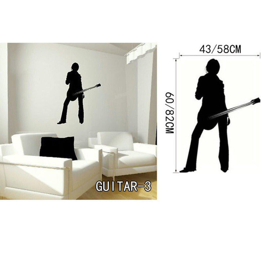 Creative Art Guitar Wall Stickers Music Wall Sticker creative-art-guitar-wall-stickers-home-decor-diy-home-decorations-music-wall-decals-living-room GUITAR3 / Small