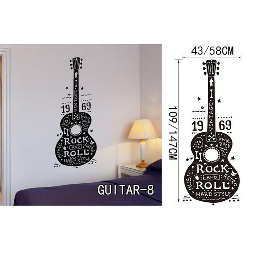 Creative Art Guitar Wall Stickers Music Wall Sticker creative-art-guitar-wall-stickers-home-decor-diy-home-decorations-music-wall-decals-living-room GUITAR8 / Small