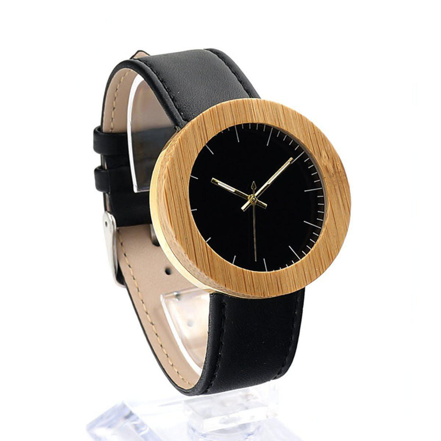 Design Wooden Watch Women Watches design-wooden-watch black
