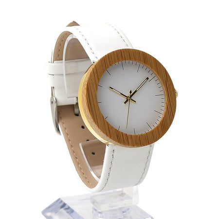 Design Wooden Watch Women Watches design-wooden-watch white