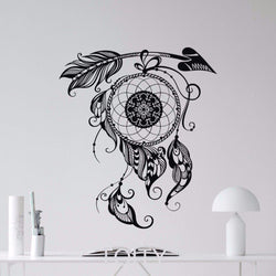 Dream Catcher Wall Sticker Feathers Wall Sticker dream-catcher-wall-sticker-1 Black