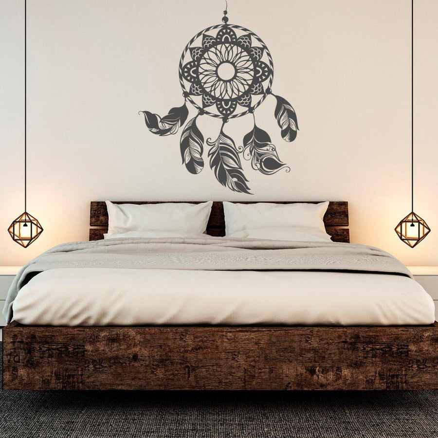 Dream Catcher Wall Sticker Feathers Wall Sticker dream-catcher-wall-sticker-2 black / 43X36cm