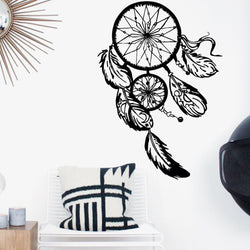 Dream Catcher Wall Sticker Feathers Wall Sticker dream-catcher-wall-sticker Black