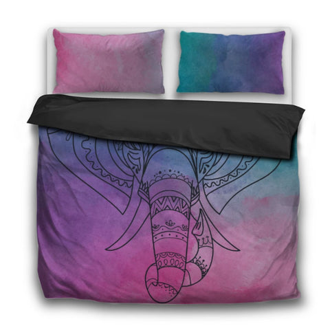 Elephant Bedding Set Bohemian Gypsy Hippie Duvet Cover Pillowcase Bedroom Interior Design Us Twin Sets