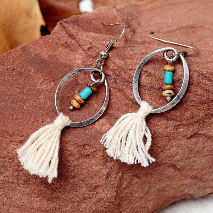 Ethnic Beige Earrings Earrings ethnic-beige-earrings Default Title