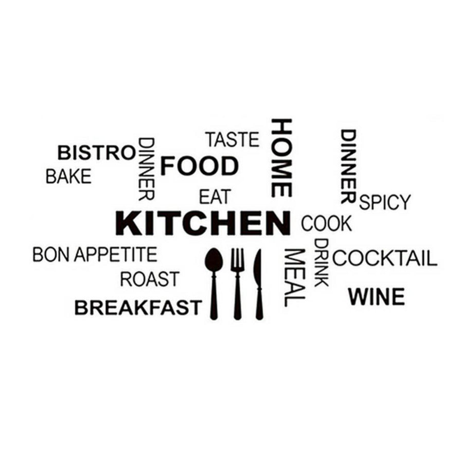 Fashion Characters Words Stickers Kitchen Wall Stickers Home Decoration Blace Black Quotes Wall Sticker fashion-characters-words-stickers-kitchen-wall-stickers-home-decoration-blace-black Default Title