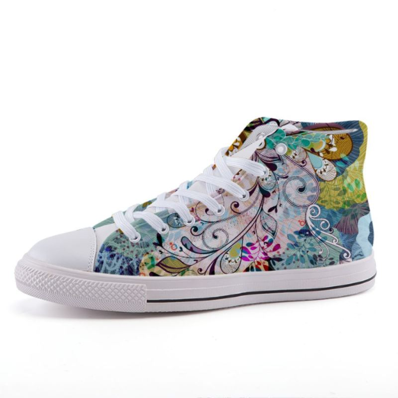 Floral Art Sneakers Shoes