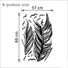 Flying Feather Wall Sticker Feathers Wall Sticker flying-feather-wall-sticker A white