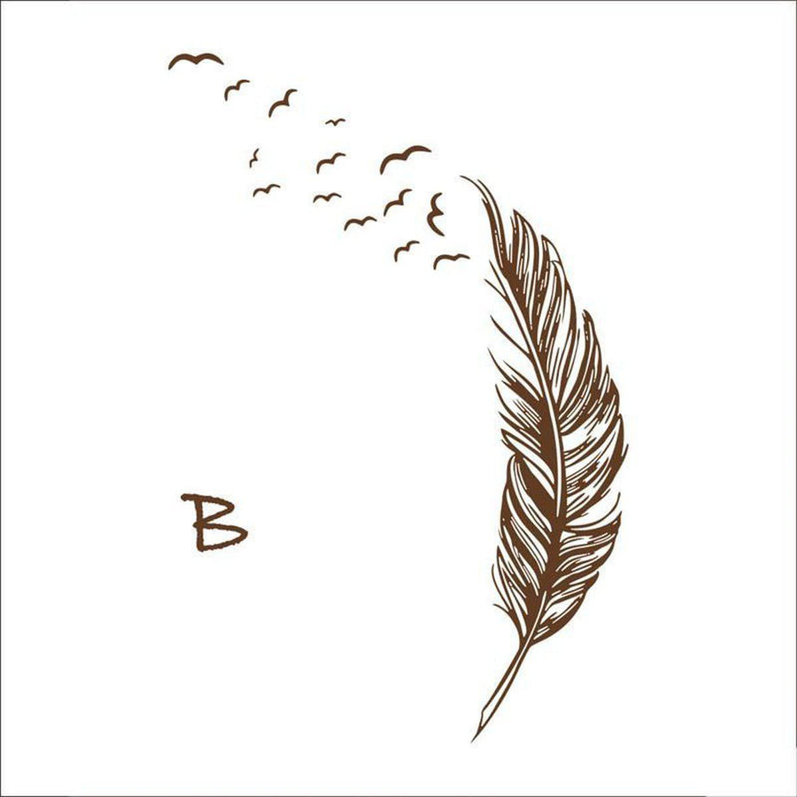 Flying Feather Wall Sticker Feathers Wall Sticker flying-feather-wall-sticker B brown